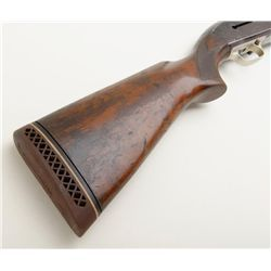 Winchester Model 59, 12 gauge lightweight semiautomatic shotgun with alloy frame and barrel, modif