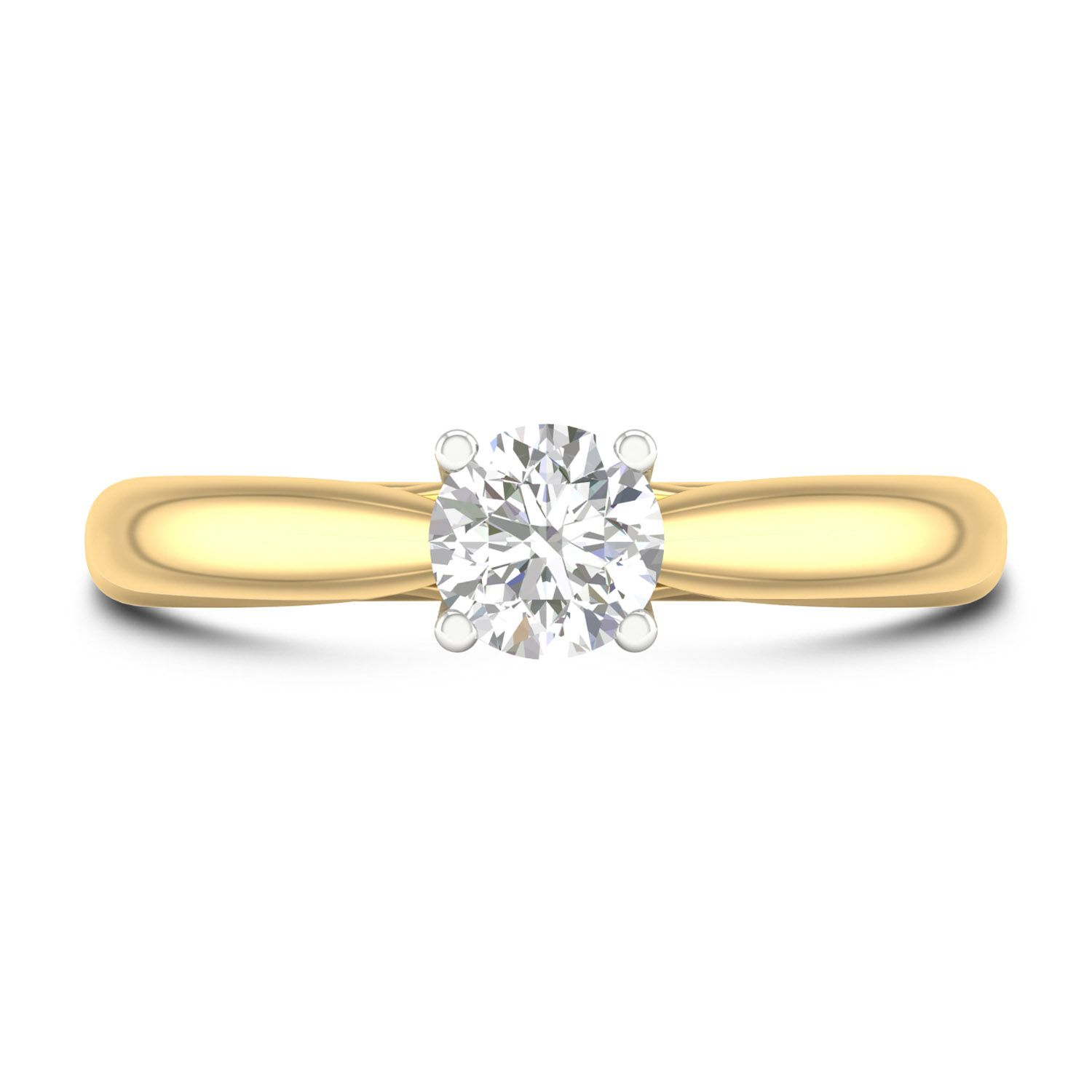 18ct Yellow Gold 0 50ct Round Diamond Fraser Hart Setting Ring Round Diamonds Unique Engagement Rings Engagement Ring Inspiration