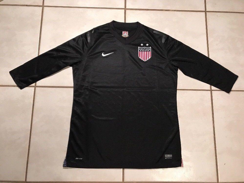 dfe158224 nwot nike usa national team black centennial goalkeeper jersey womens xl