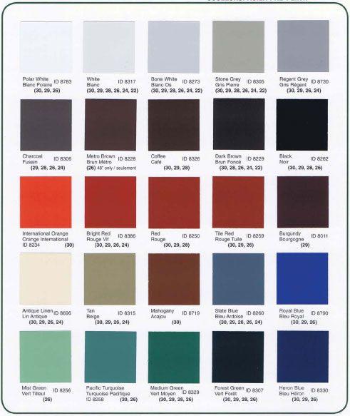 Acier galvanis charte de couleurs arcan aluminium for Choisir couleur toiture
