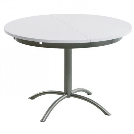 Table De Cuisine Ronde En Stratifie Extensible Laser Table Ronde Cuisine Table A Manger Ronde Table Ronde Extensible