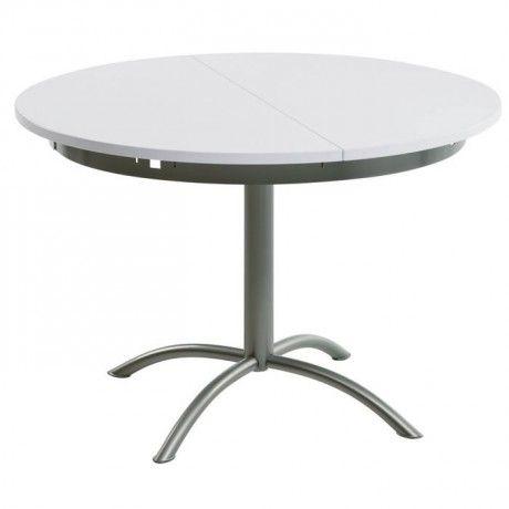 Table De Cuisine Ronde En Stratifié Extensible Laser Cuisine - Table ronde pied central extensible pour idees de deco de cuisine
