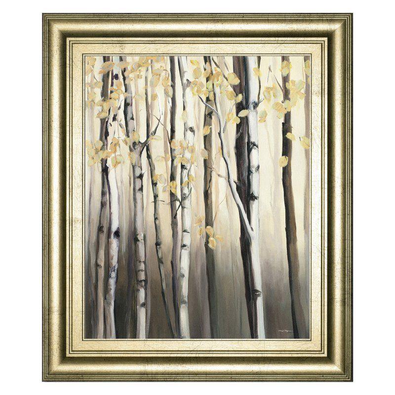 Classy Art Golden Birch II Framed Wall Art - 8274
