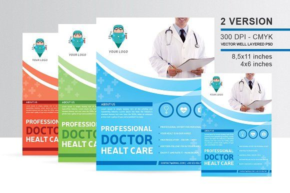 Professional Doctor Health Flyer By Manudesign On Creativemarket