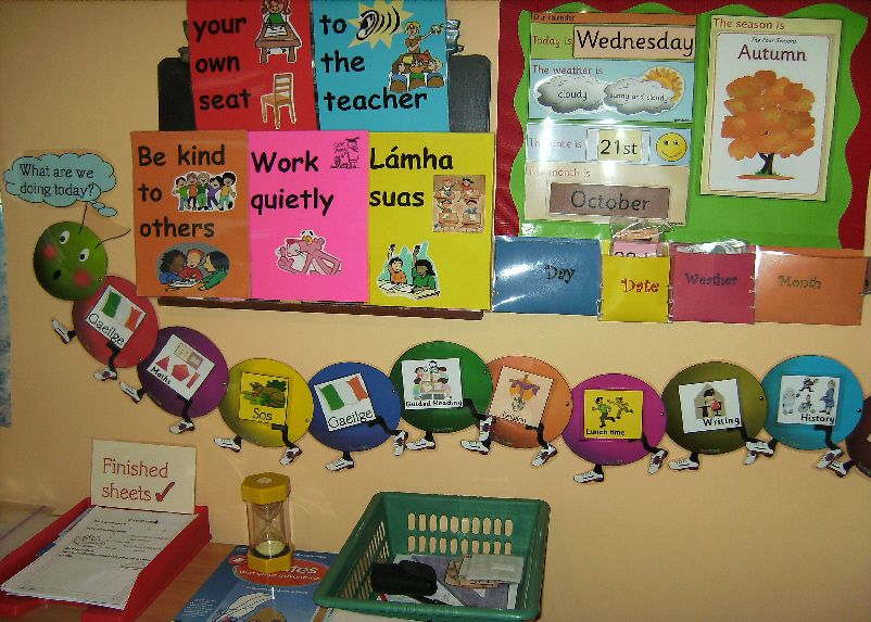 Calendar Display Ideas : Calendar and timetable classroom display photo
