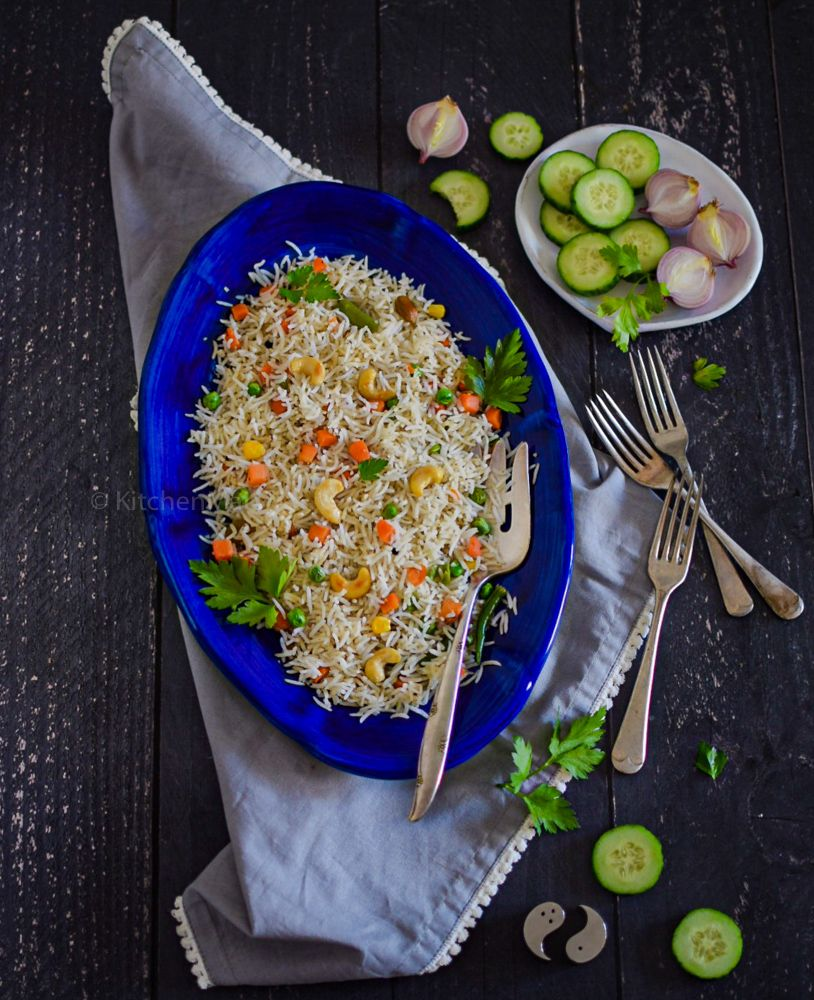 Bengali vegetable fried rice - Kitchen Mai | Recipe in ...