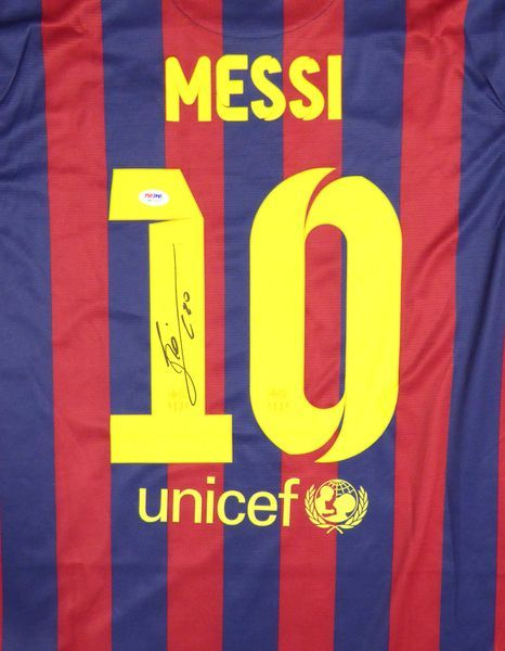 272efb8aa84ac FC Barcelona Qatar Airways Lionel Messi Autographed Red & Blue Authentic  Nike Jersey PSA/DNA ITP