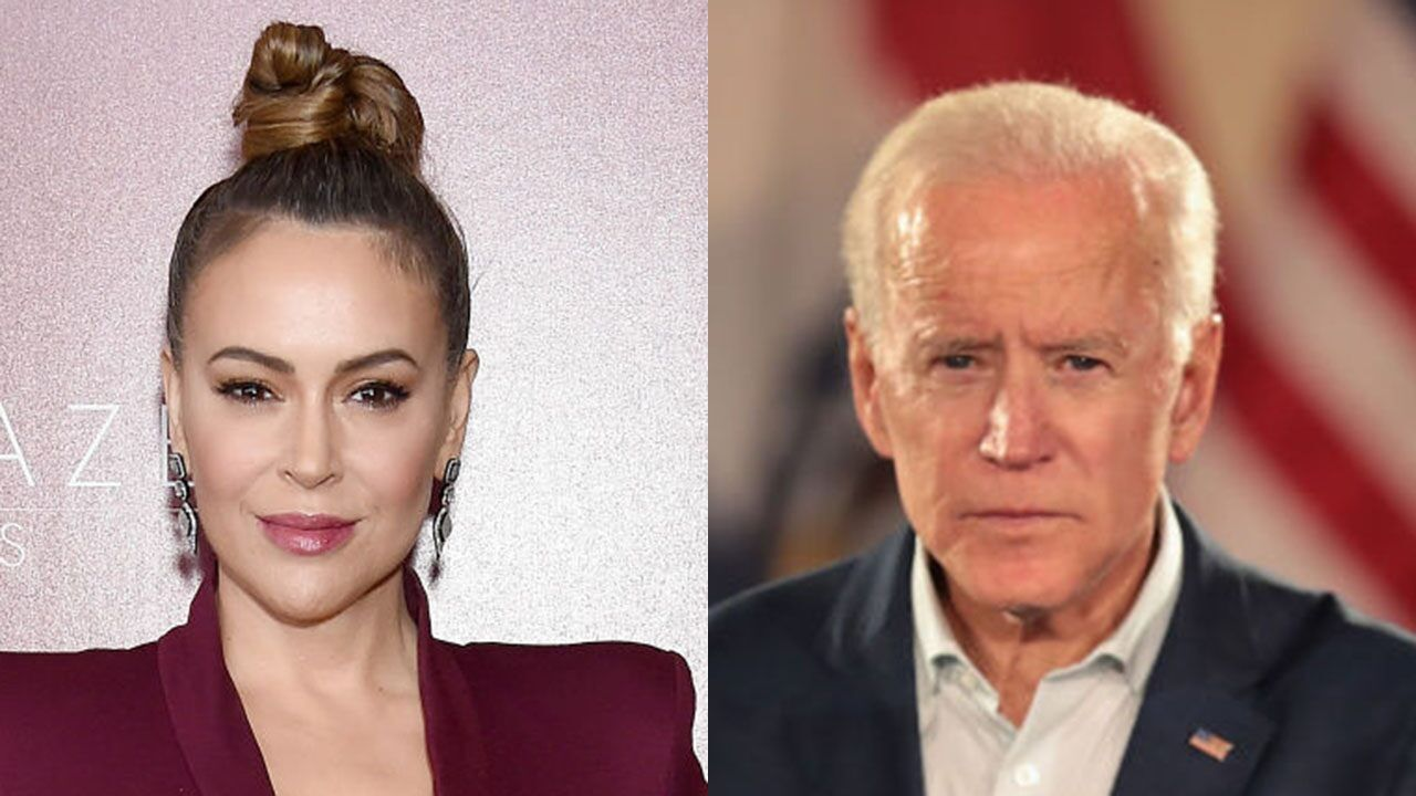 Alyssa Milano Supports Joe Biden After Tough Conversation He Had