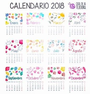 Calendario 2018 tamaño carta, con feriados de Chile Calendario