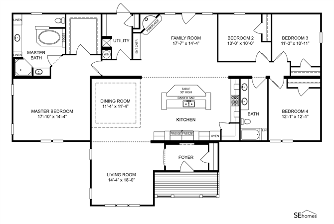 Interactive Floorplan The Johnson 4 - EZ440