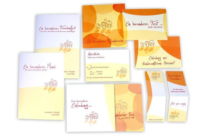 Hochzeitseinladungen und taufe