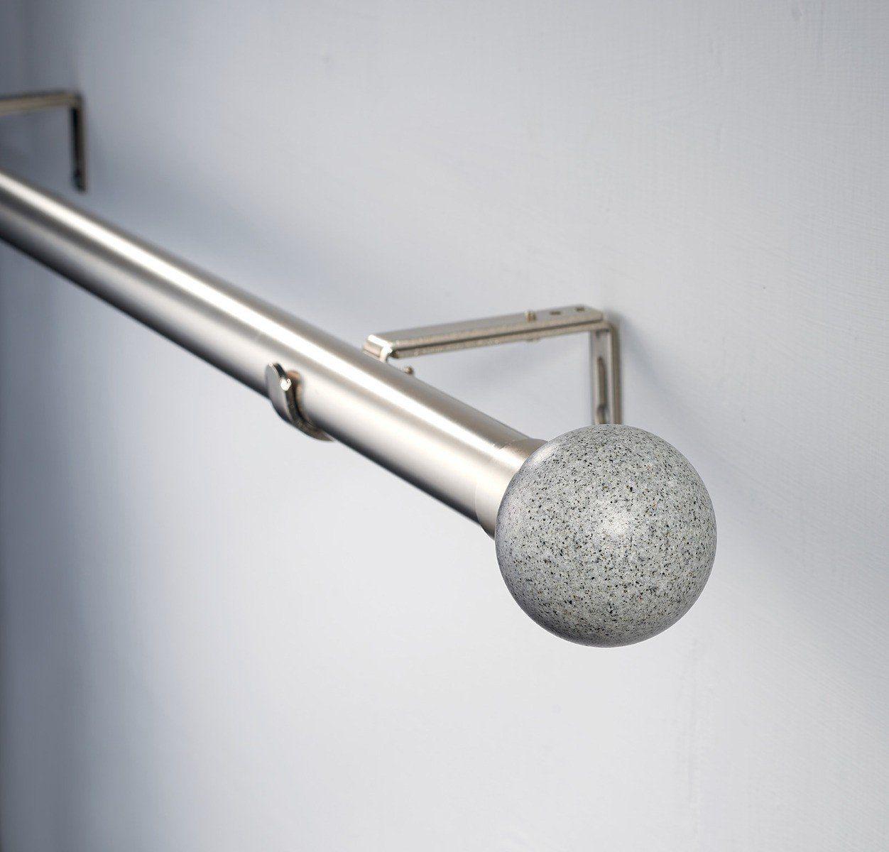Decor Avenue Grey Stone Double Window Curtain Rod Set 28 To 48inch