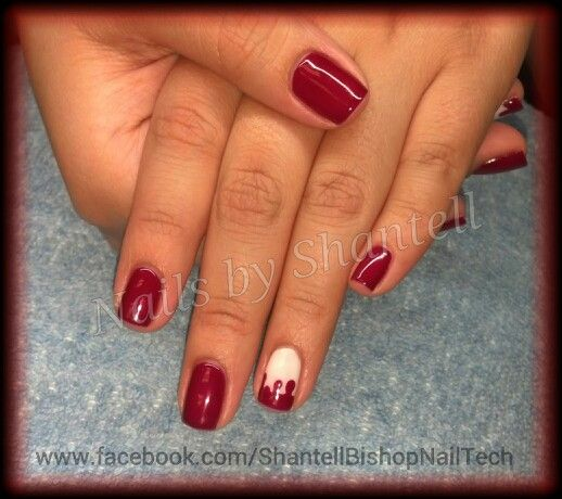 Bloody Drips! CND Shellac: Red Baroness & Studio White