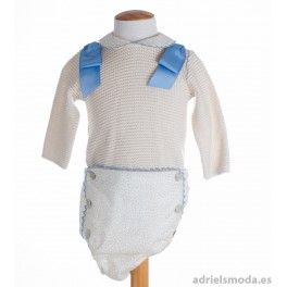 Conjunto jersey de punto y cubre-pañal de Foque.  5ac294d28159