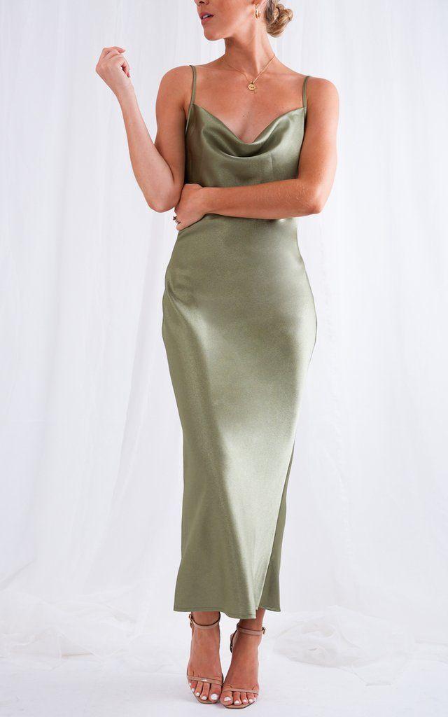 Keisha Slip Dress - Green