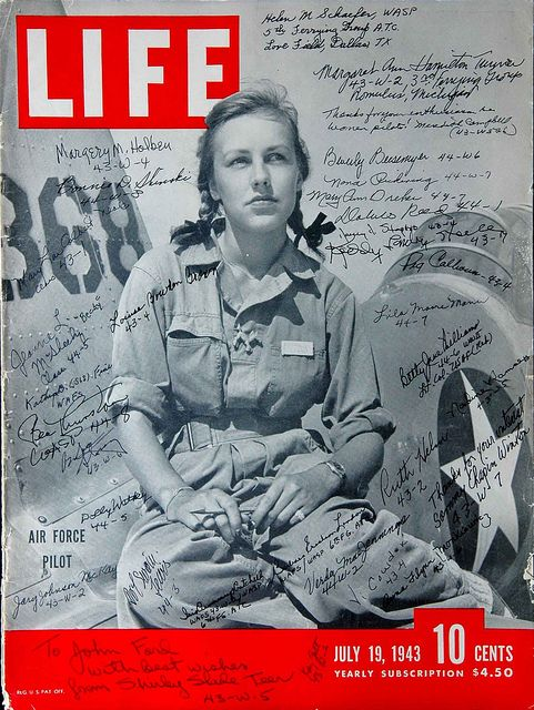 Life Magazine cover of Woman Pilot