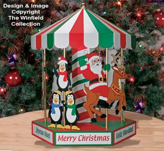 christmas carousel woodworking plans now you can make a small working version of our popular motorized christmas carousel yard display - Motorized Christmas Decorations