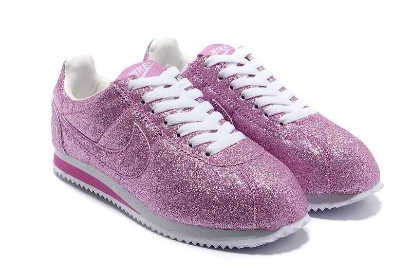 new styles 05c46 1ff39 2014 Women Nike Cortez Shoes Sky Blue Purple Gold Silver Pink