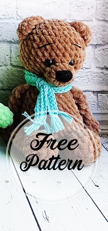 Free Amigurumi Crochet Bear Pattern and Images #crochetbear
