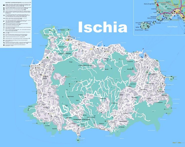 Ischia tourist map Maps Pinterest Tourist map and Italy