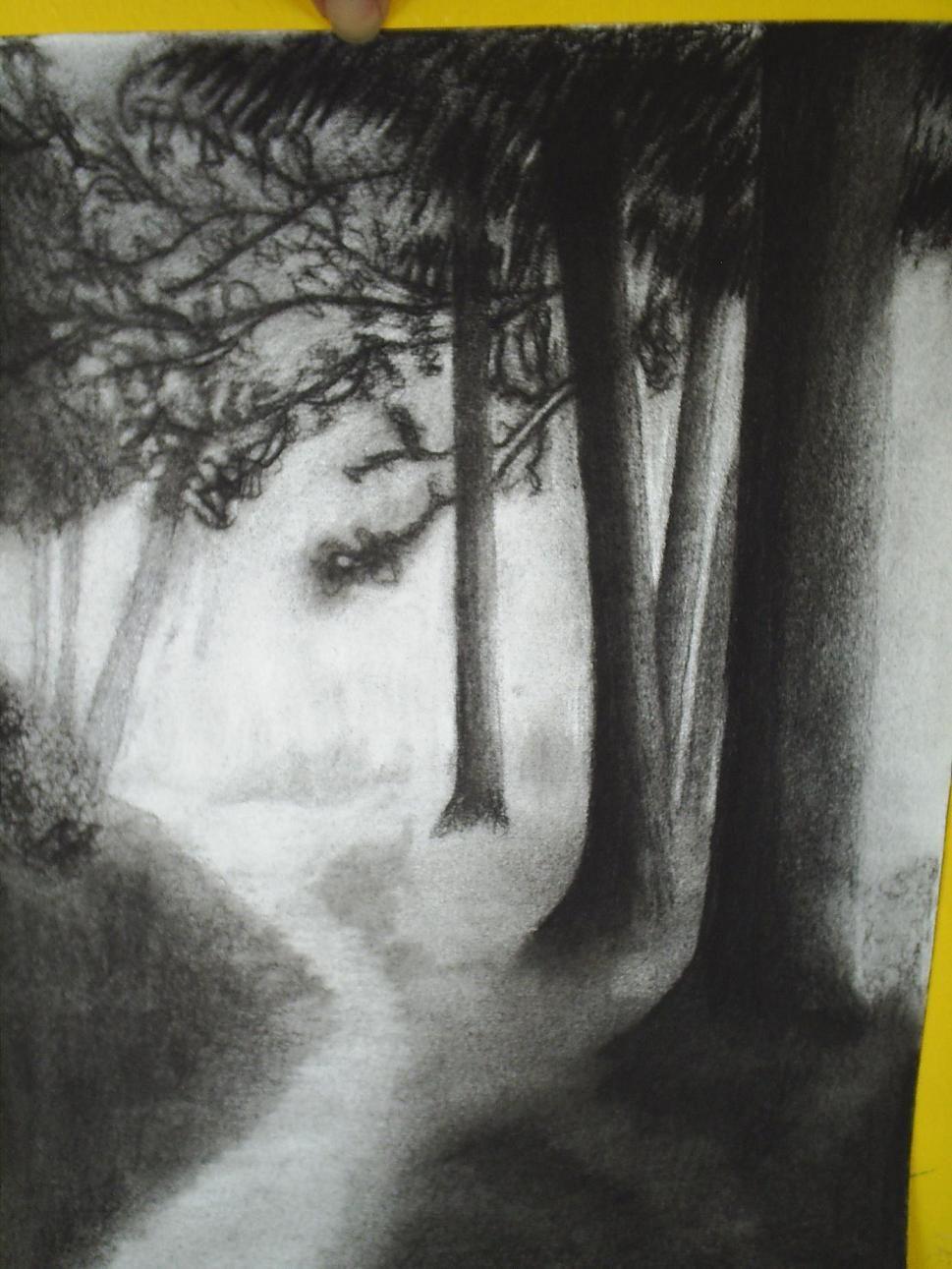 Dibujos En 2019 Carboncillo Paisaje Dibujos Y Paisajes