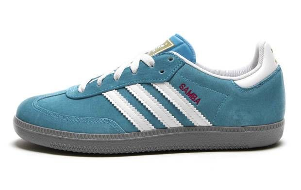 Adidas Samba Women S G22487 Sharp Blue White Light Grey