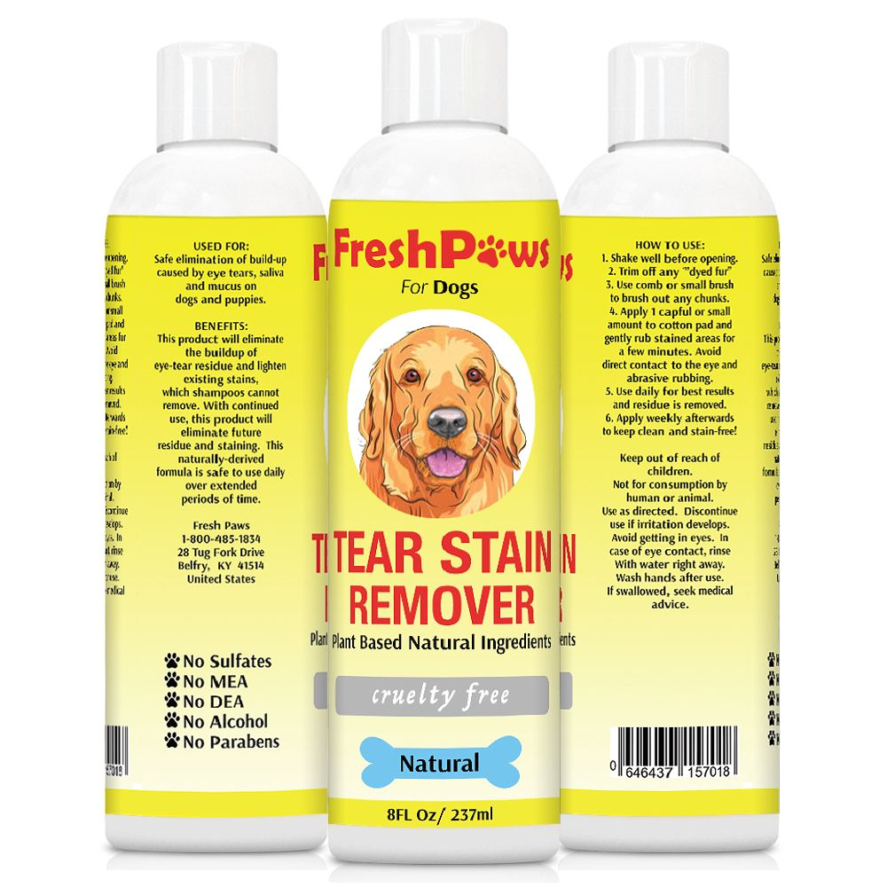 Fresh paws tear stain remover plant based natural