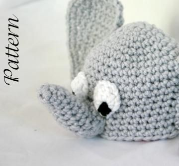 f2a06bbcf09 Baby elephant beanie hat PDF Crochet Pattern newborn-2 months infant  african zoo animal head covering winter fashion costume accessory  photography prop cute ...