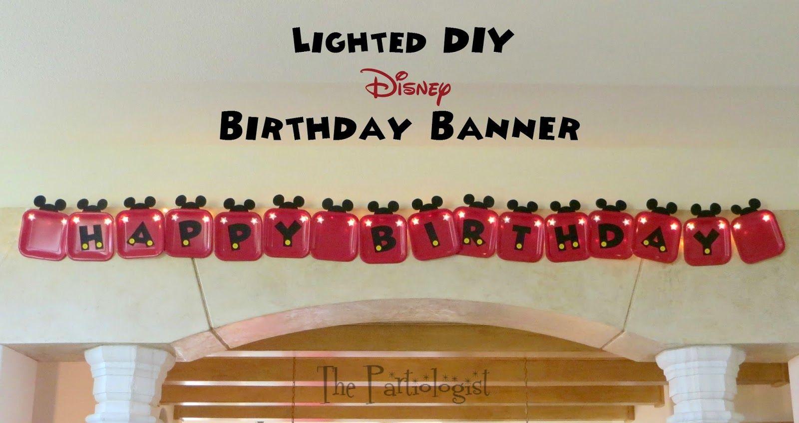 The Partiologist: DIY Disney Banner!