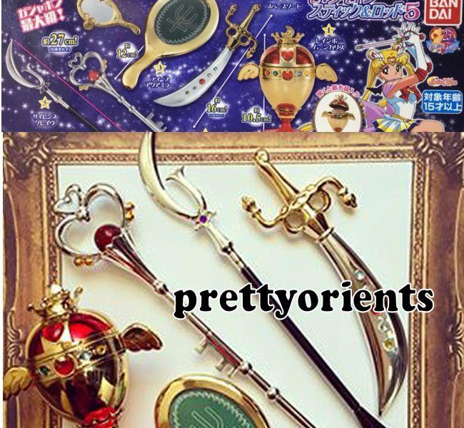 Bandai Sailor Moon Wands Gashapon Vol 3 Stick Rod Transformation Wands set of 4