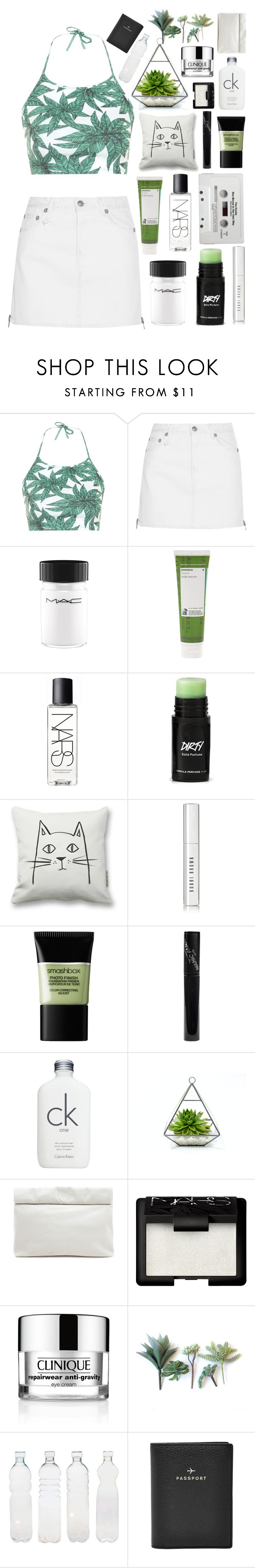 """""""Untitled #85"""" by bbernie ❤ liked on Polyvore featuring Motel, R13, MAC Cosmetics, Korres, NARS Cosmetics, CASSETTE, Bobbi Brown Cosmetics, Smashbox, Manic Panic NYC and Calvin Klein"""