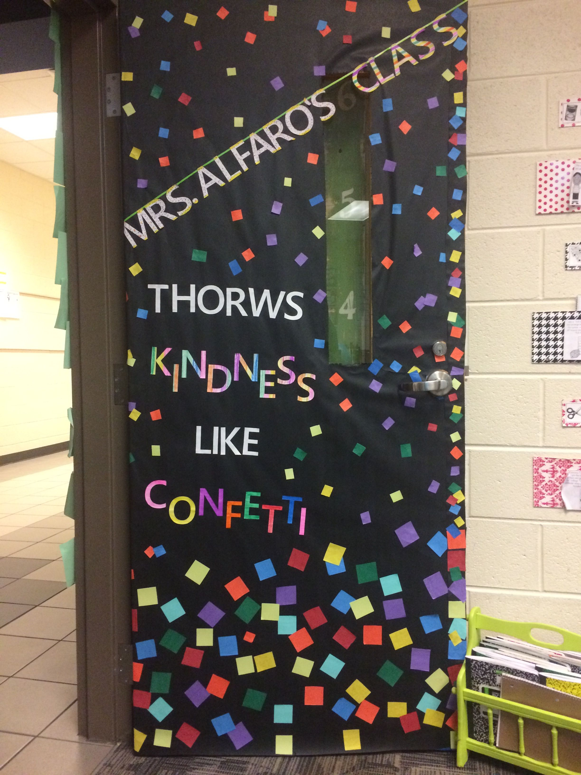 Mrs Alfaro S Class Throws Kindness Like Confetti Education Ideas