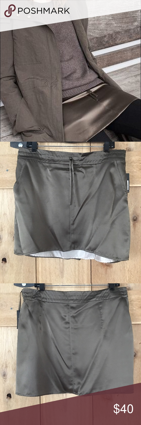 Emerson fry silk layering skirt, green size 12 Pretty layering skirt, Olive grey green, NWT Emerson Fry Skirts Mini #emersonfry Emerson fry silk layering skirt, green size 12 Pretty layering skirt, Olive grey green, NWT Emerson Fry Skirts Mini #emersonfry