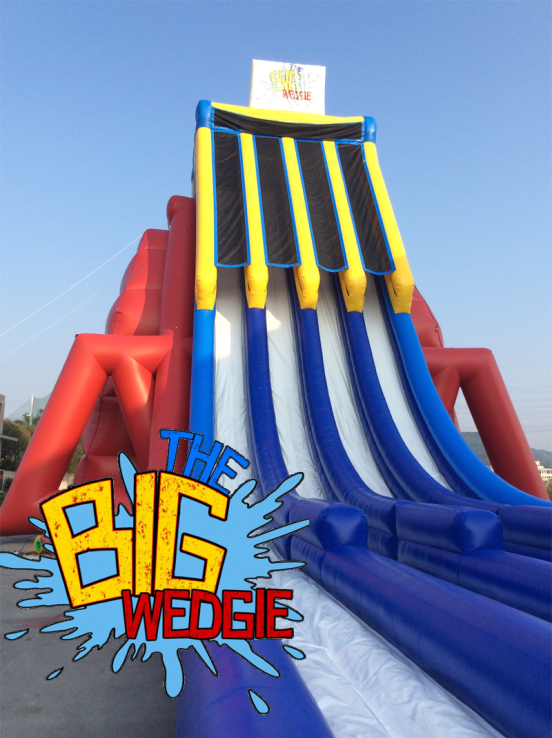 Introducing The Big Wedgie, the TALLEST inflatable water slide in