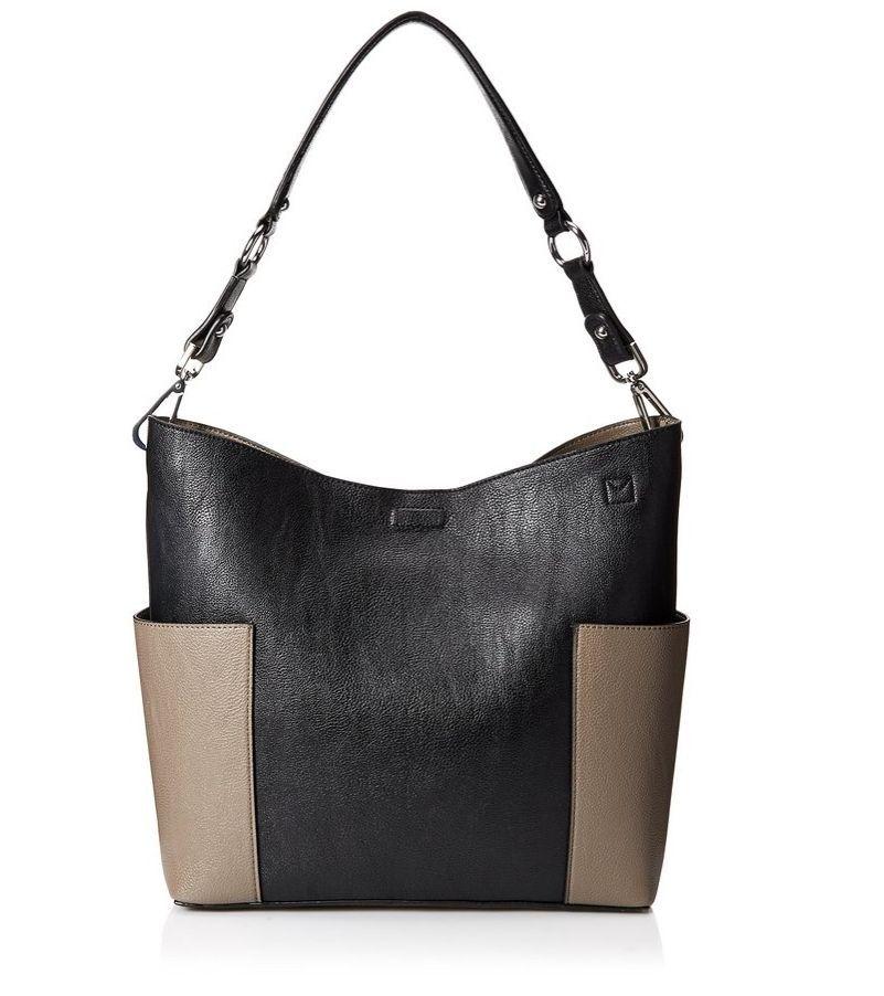 Calvin Klein Novelty Hobo Jetlink Magnetic closure Black/Grey #CalvinKlein…