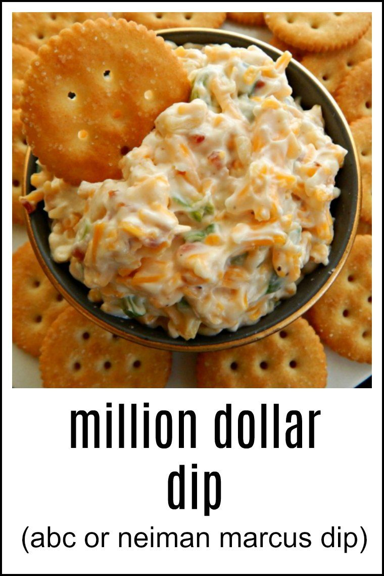 Million Dollar Dip is one name, so is ABC for the Almond, Bacon & Cheddar & Neiman Marcus Dip. No matter what it's called, it's fast, easy and delish! And did I mention Bacon?!! #MillionDollarDip #NeimanMarcusDip #ABC Dip #AlmondBaconCheddarDip via @www.pinterest.com/frugalhausfrau