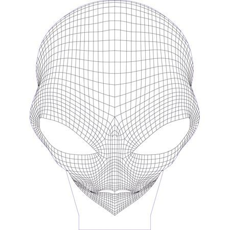 Alien 3d Illusion Vector File For Laser And Cnc 3bee Studio 3d Illusions 3d Illusion Lamp Illusions