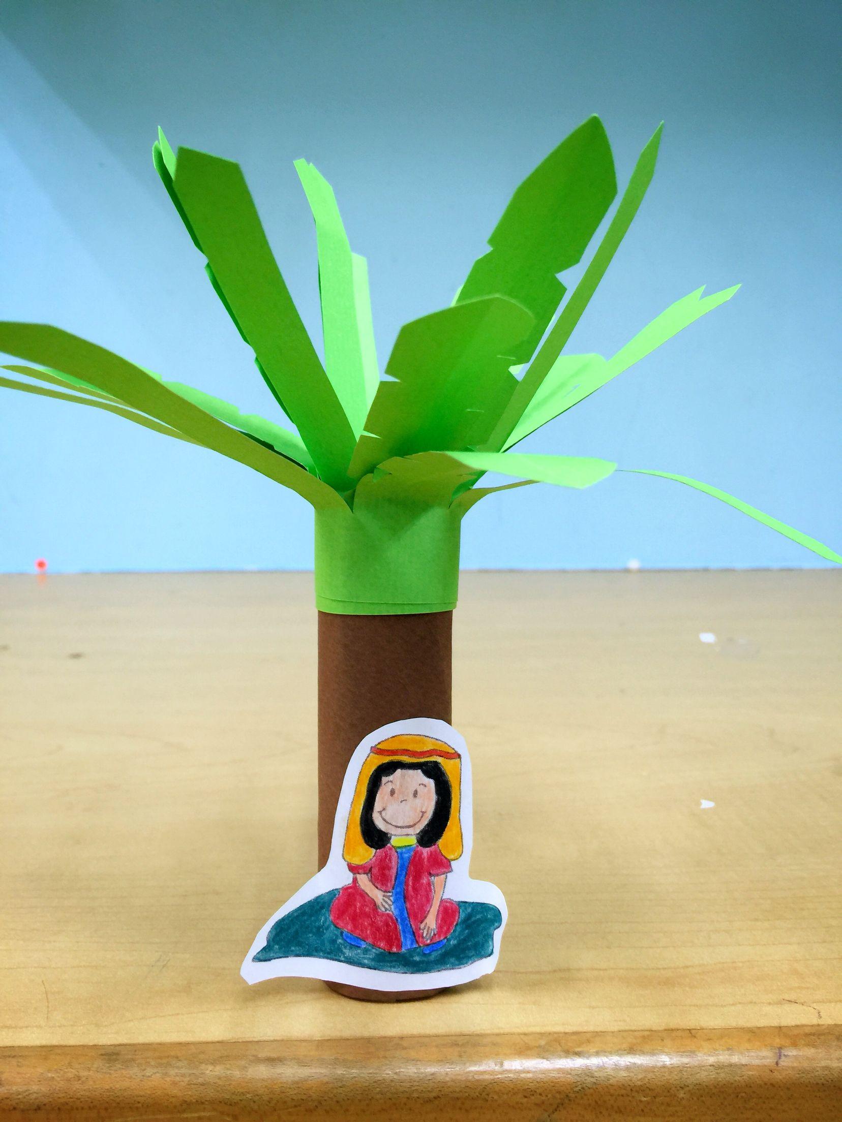 Deborah and Barak. Arts and Crafts. Sunday School. Palm Tree ...