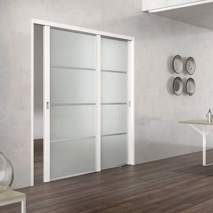 Porte vetro scorrevoli porte per interni arredamento pinterest porte interni e porte - Porte scorrevoli per interni ...
