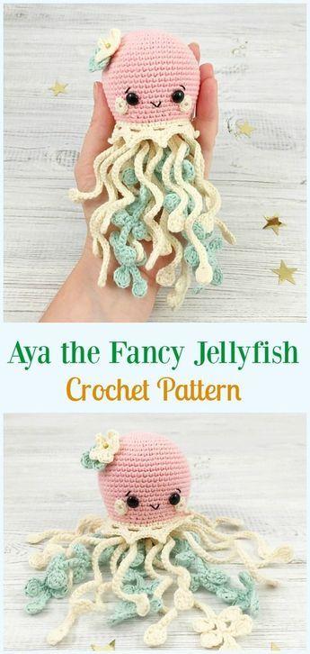 Amigurumi Jellyfish Toy Softies Free Crochet Patterns