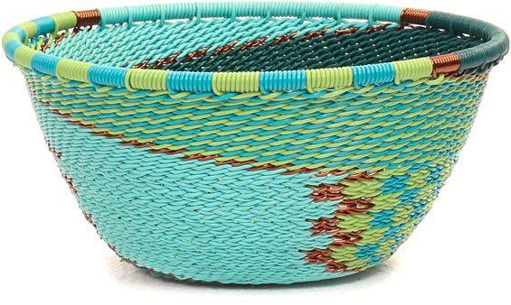 African Basket - Zulu Wire - Small Bowl #44929