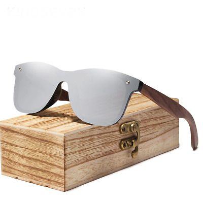 Details about 2019 Men Sunglasses Polarized Walnut Wood Mirror Lens Sun Glasses Women Colorful