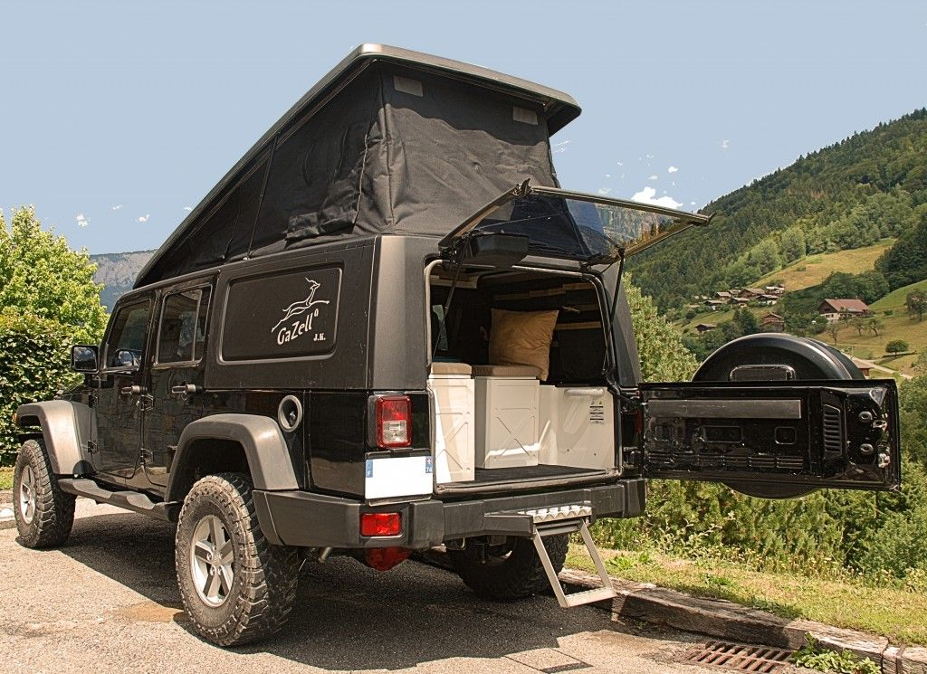 gazell camper conversion for jeep jk off road rvs 4wd. Black Bedroom Furniture Sets. Home Design Ideas