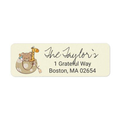 Baby Animals Return Address Label Return address - address label