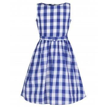 2f2e385b0 Mini Audrey' Children's Royal Blue Gingham Dress | For Rosie ...