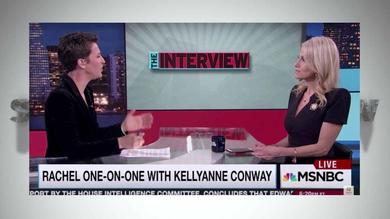 kellyanne conway taken to school in the interview with rachel mad