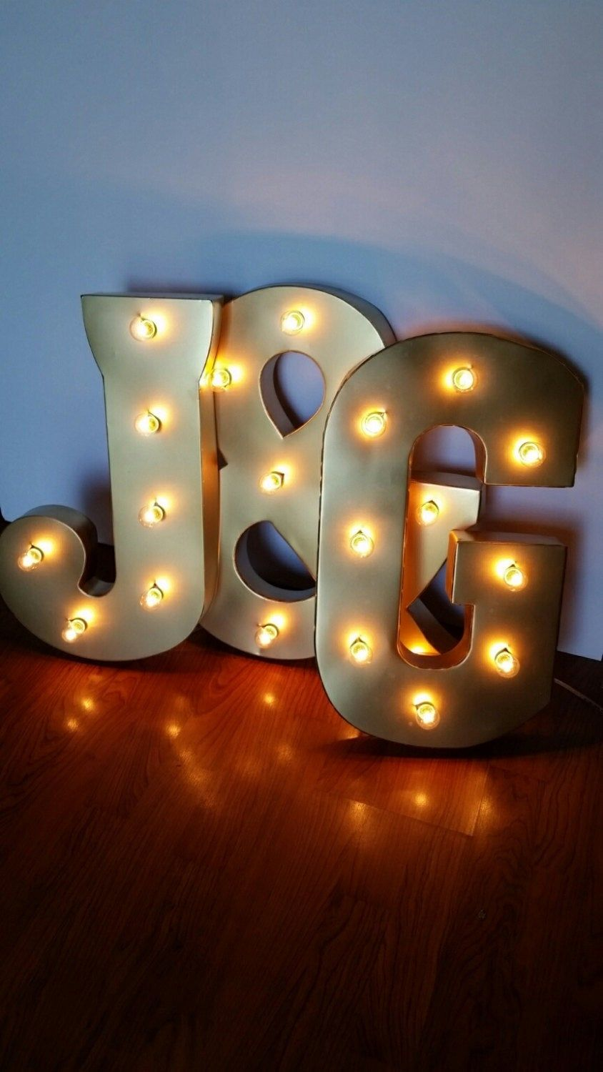 21 Gold Light Up Letters Large Marquee Electric Sign In 2020 Light Up Letters Light Bulb Letters Light Letters