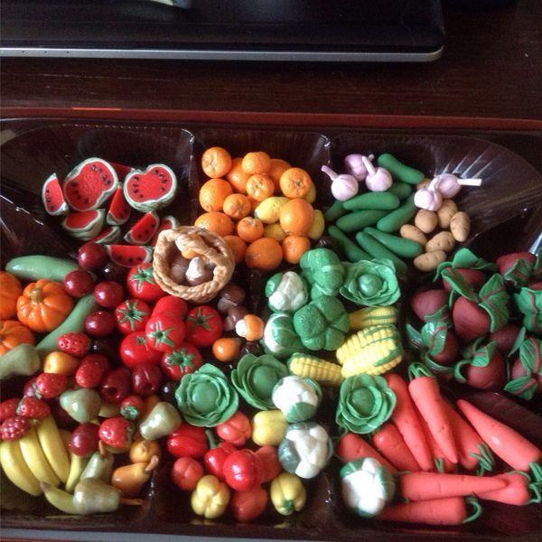 Миниатюрные овощи,фрукты и ягоды для детей   Овощи, Ягоды ...