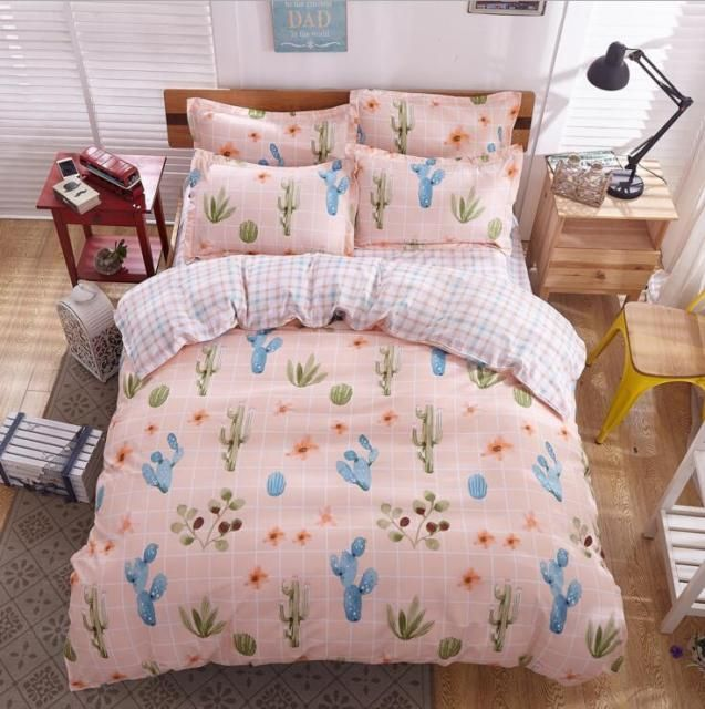 Cactus Cotton Bedding Set Bed Quilt Duvet Cover Set Pillow Case Twin Queen King Ebay Bed Linens Luxury Luxury Bedding Twin Bed Sets