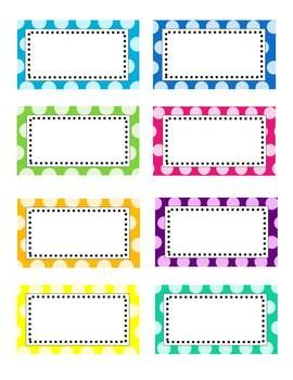Editable polka dot labels clip art images pinterest for Room labels